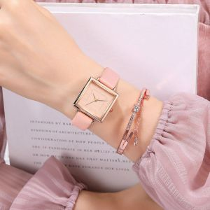 Square Ladies Belt Watch