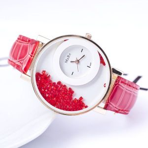 Red Running Diamond Ladies Watch