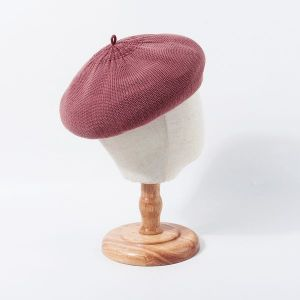 Lotus Pink Knitted Beret