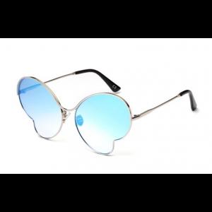 Butterfly Metal Concave Shape Blue Mercury Color Lens Glasses