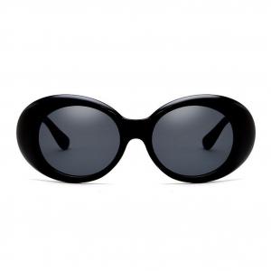 Retro Oval Black Sunglasses