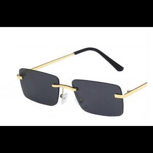 Square Gold Frame Marine Sunglasses