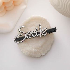 Diamond Letter Hairpin SMILE