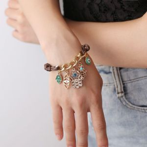 Demon Eye Braided Fatima Palm Bracelet