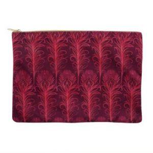 Luxury Pink Fabric Makeup Bag