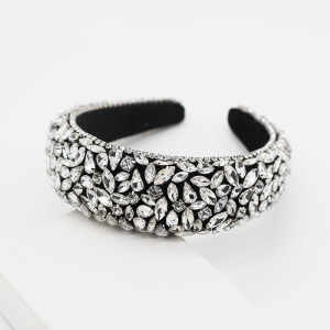 Black Rhinestone Encrusted Headband