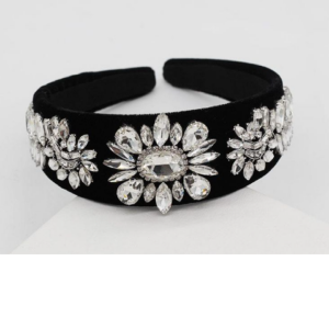 Black with Rhinestone Headband