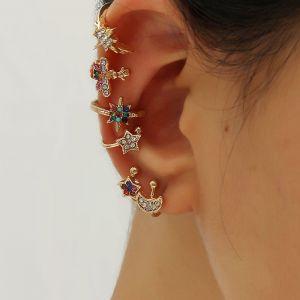 6-Piece Ear Bone Clip On Earrings