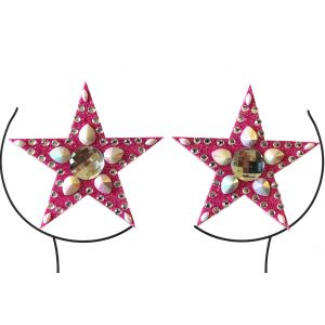 Pink Glitter and Pearl Gem Pasties