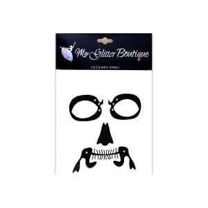 Skeleton Face and Neck Bone Halloween Stickers
