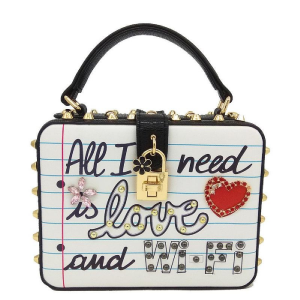 All I Need Is Love and Wi-Fi slogan multi-coloured bag