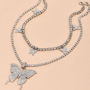 Butterfly Full Diamond Necklace
