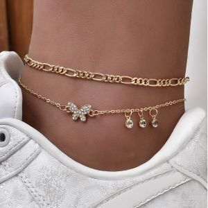 Butterfly Love Multilayer Anklet