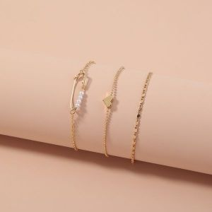 Pearl Multi Layer Set of 3 Bracelets