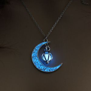 Blue Moon Pumpkin Luminous Women's Necklace