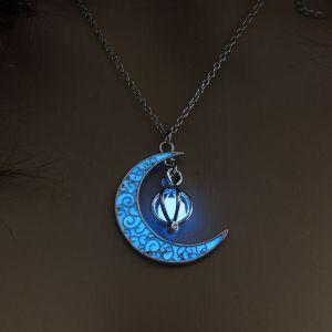 Blue Moon Pumpkin Luminous Women's Necklace
