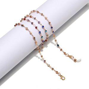 Fashion Colorful Rhinestone Handmade Glasses Chain jewelry