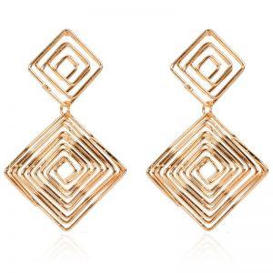 Fashion Golden Square Earrings