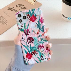 Pink Tulip Floral iPhone 11 Pro Silicone Case
