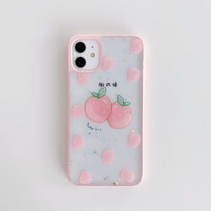 Apple 7-8 Plus Epoxy Peach Orange Phone Case