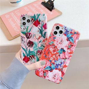 Red Floral iPhone 11 Pro Silicone Case
