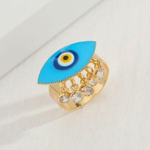 Turkish Blue Eye Dripping Ring