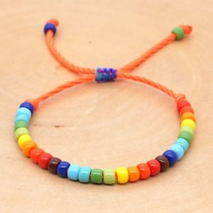 Handmade Rainbow Beaded Bracelet