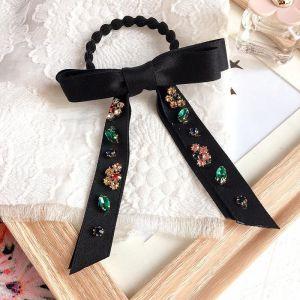 Ribbon Bow Knot Scrunchies Black