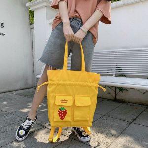 Strawberry Fruit Drawstring Shoulder Bag Yellow