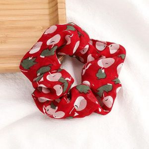 Cherry Printed Scrunchies Red
