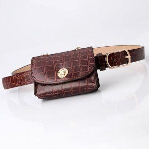 Stone-coffee Belt Bag Mini Chain Bag All-match Clothing