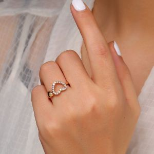 Hollow Love Alloy Ring
