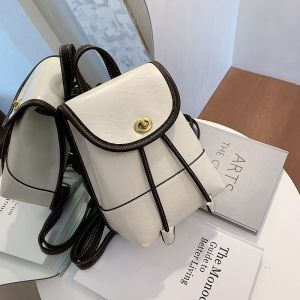 White Leather Look Backpack