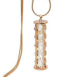 Hourglass Austrian Crystal Chain Long Necklace