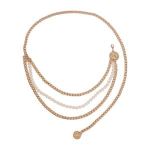Imitation Pearl Multi-layer Waist Chain