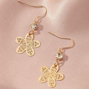 Ethnic Style Flower Earrings
