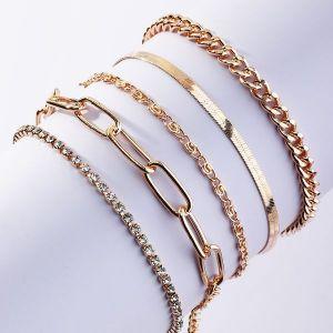 Thick Chain Bracelet 5 Set