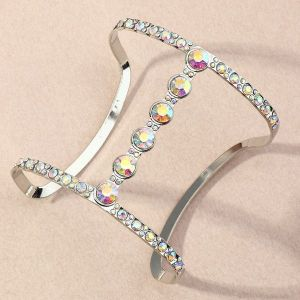 Zircon Geometric H-shaped Bracelet