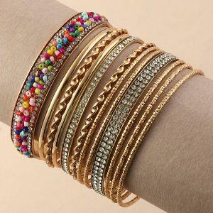 Ethnic Style Color Rice Bead Bracelet