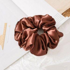 Simple Scrunchies Red Brown