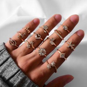 13 Piece Set Ladies Ring Set