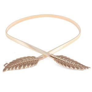 Golden Metal Leaf Belt