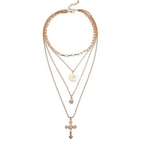 Cross Multi-layer Necklace