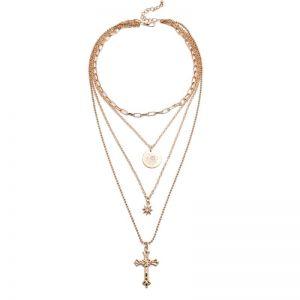 Cross Multi-layer Necklace
