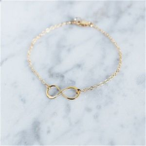 Gold Infinity Adjustable Bracelet
