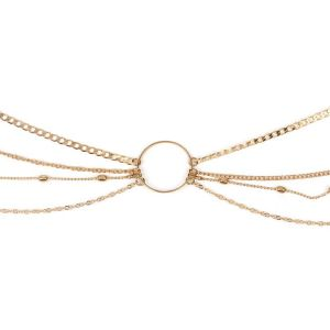 Gold Geometrical Hollow Centre Waist Chain