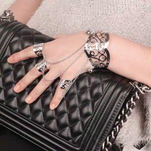Retro Silver Three Rings Bracelet