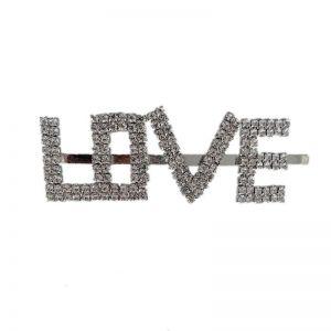 Rhinestone Love Letter Hairpin