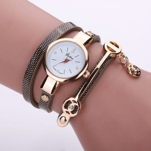 Strap Casual Three-circle Winding Bracelet Watch