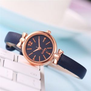 Blue leather look watch